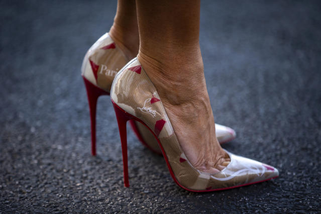Melania Trump's Louboutins stole the show. (Photo: Al Drago/Getty Images)