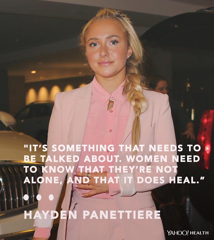 """<p><a href=""""https://www.yahoo.com/health/hayden-panettiere-enters-treatment-for-1277967635841078.html"""">Panattiere opened up</a> this fall about her experience with postpartum depression — an illness her character on <i>Nashville</i> is dealing with as well.""""It's something a lot of women experience,"""" she said on <i>Live! with Kelly and Michael</i>. """"When [you're told] about postpartum depression you think it's 'I feel negative feelings towards my child, I want to injure or hurt my child' — I've never, ever had those feelings. Some women do. But you don't realize how broad of a spectrum you can really experience that on. It's something that needs to be talked about. Women need to know that they're not alone, and that it does heal."""" <br /></p><p><i>(Photo: Getty Images)</i></p>"""