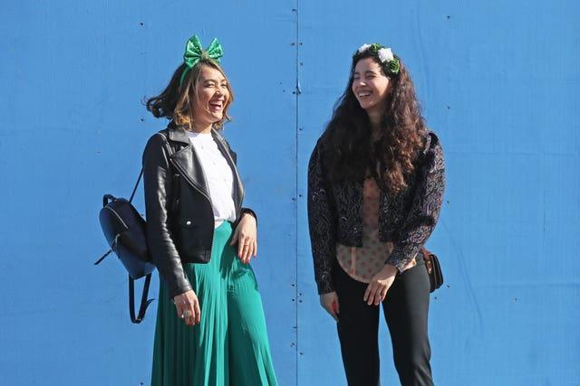 People dressed up to celebrate St Patrick's Day (Brian Lawless/PA)