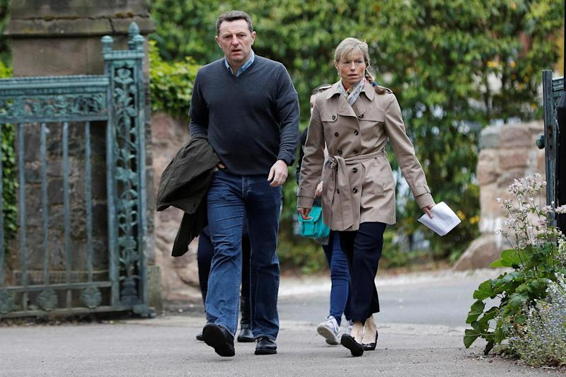 Anniversary vigil: Kate and Gerry McCann attend a church service in Rothley: REUTERS