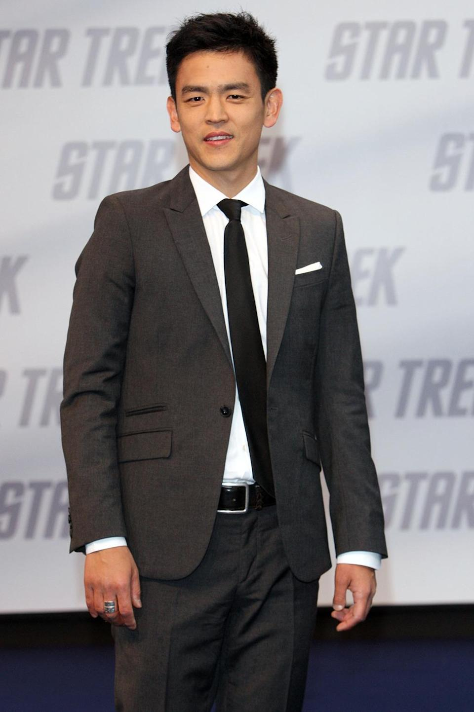<p>John Cho in Berlin on April 16, 2009. Cho took on the role of Hikaru Sulu in the reboot. <i>(Photo: Franziska Krug/Getty Images)</i></p>