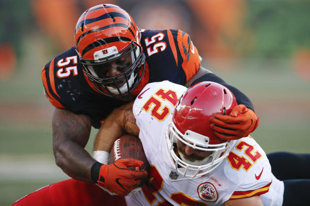 Vontaze Burfict signed a huge three-year extension with the Bengals. (AP)