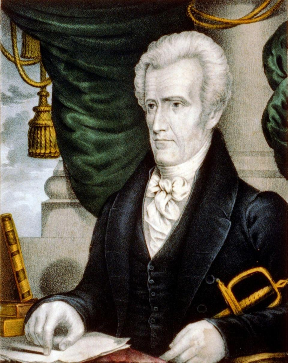 """<p>Even one of our first presidents divorced and remarried a spouse! Andrew Jackson met Rachel Donelson Robards while she was separated from her first husband, though she <a href=""""https://thehermitage.com/learn/andrew-jackson/family/rachel/"""" rel=""""nofollow noopener"""" target=""""_blank"""" data-ylk=""""slk:thought they were divorced"""" class=""""link rapid-noclick-resp"""">thought they were divorced</a>. The young-and-in-love couple married in 1791, but after she learned her divorce was not yet finalized, the union was dissolved. The couple officially remarried in 1794 and remained together until Rachel's death during Andrew's presidential campaign. </p>"""
