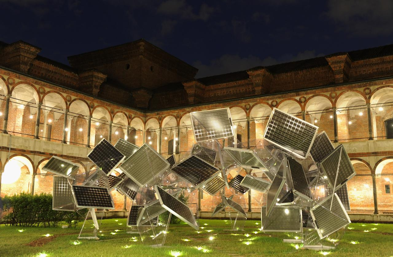 MILAN, ITALY - APRIL 20:  Creations are displayed at Statale University for Interni Legacy event during 2012 Milan Design Week on April 20, 2012 in Milan, Italy.  (Photo by Pier Marco Tacca/Getty Images)