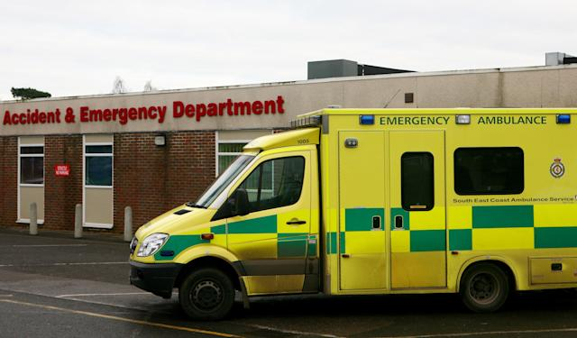 Six South East Coast ambulances in Kent were targeted by vandals on Sunday night. (Gareth Fuller – PA)
