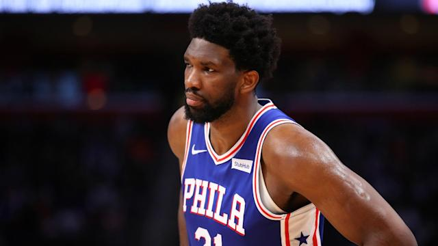 Joel Embiid is questionable for Thursday's showdown with the Boston Celtics.