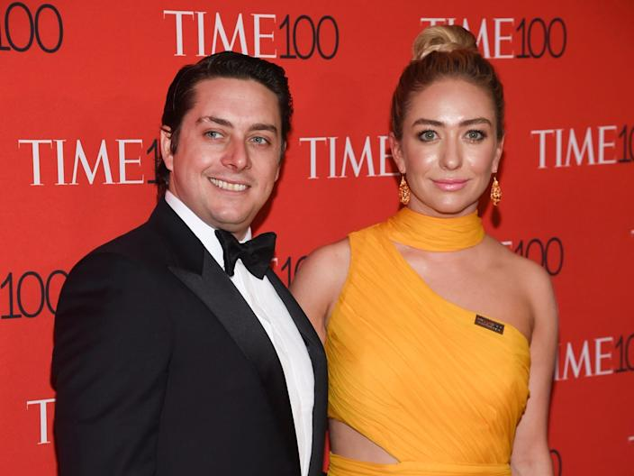 "Whitney Wolfe Herd and husband Michael Herd in 2018. <p class=""copyright"">Evan Agostini/Invision/AP</p>"