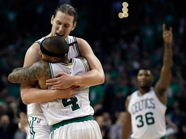 "<a class=""link rapid-noclick-resp"" href=""/nba/players/5164/"" data-ylk=""slk:Kelly Olynyk"">Kelly Olynyk</a> is the unlikeliest of Celtics Game 7 heroes. (AP)"