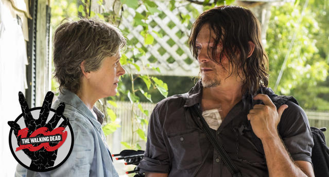 Melissa McBride as Carol Peletier and Norman Reedus as Daryl Dixon in the <em>The Walking Dead</em>. (Photo: Gene Page/AMC)