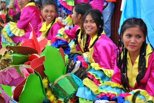 Dancers waiting for their turn to perform. (Photo by Gael Hilotin)