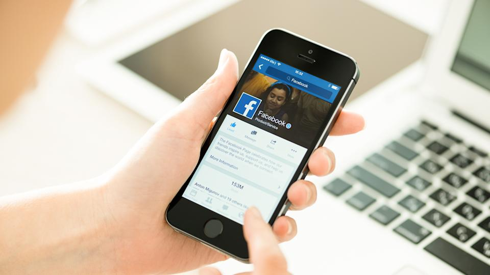 facebook application on an iphone smartphone