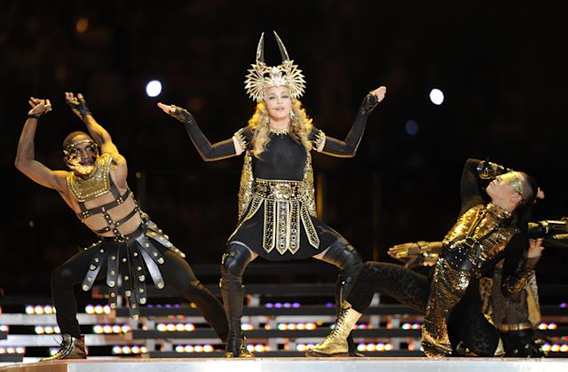 2012: Madonna. (Photo by TIMOTHY A. CLARY/AFP via Getty Images)