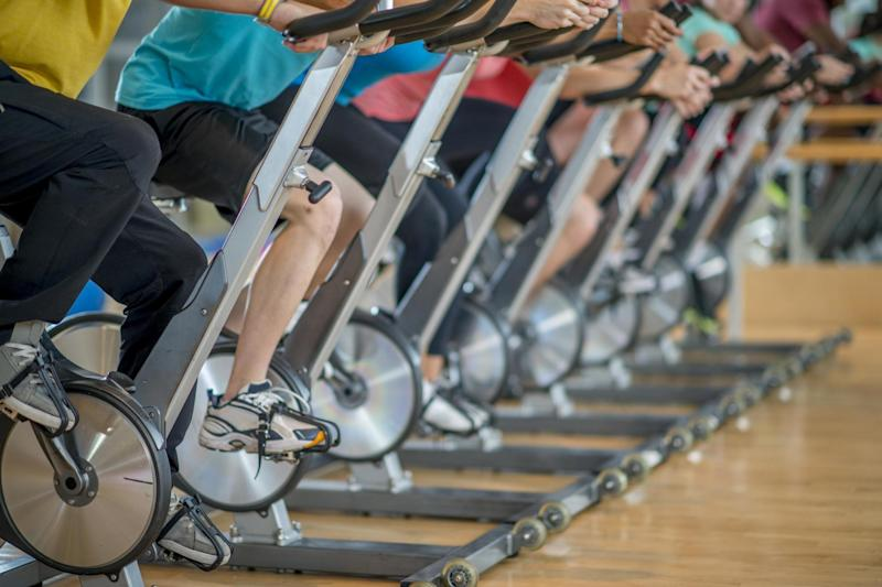 Spin classes can cause the same type of injuries as a car crash (Stock)