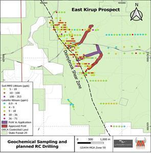 : Sampling at East Kirup Prospect and PoW planned and approved for Q4 work on DSZ.