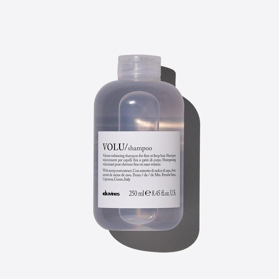 <p>Give thin, limp hair a bit of a boost with <span>Davines Volu Shampoo</span> ($29), which is made with a light formula featuring turnip extract to add volume and shine to the hair.</p>