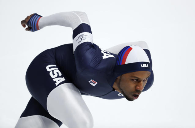 Shani Davis was upset about not being chosen as flag-bearer for the U.S. team in his fifth Olympics. (AP)