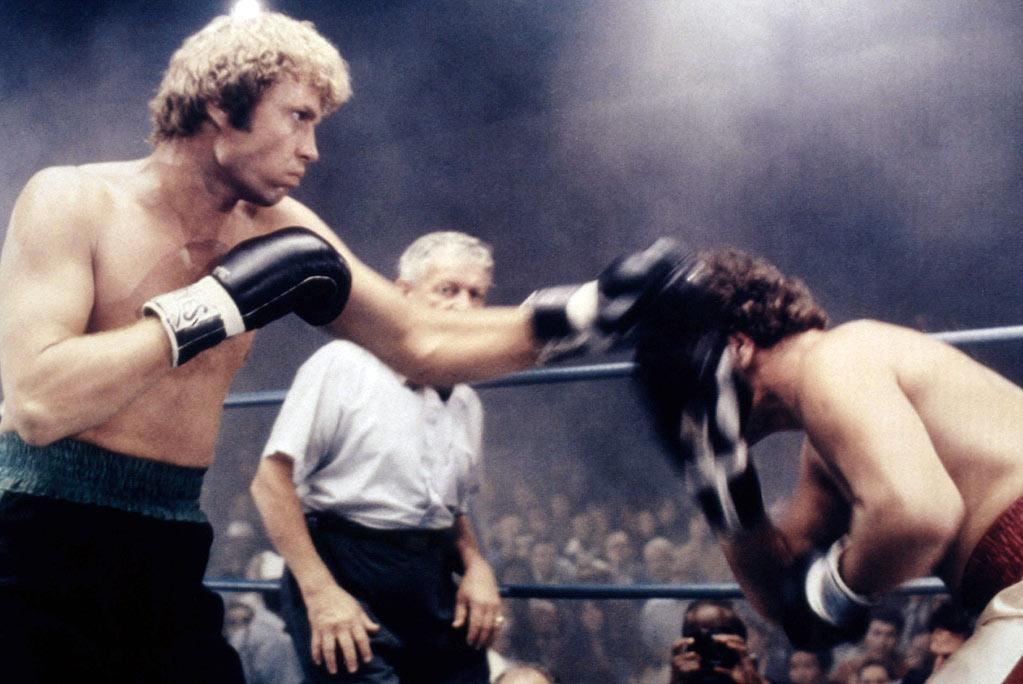 """<a href=""""http://movies.yahoo.com/movie/1800045817/info"""">The Champ</a> (1979: I dare you to try even thinking about this movie without getting choked up -- that's how powerful its conclusion is. Yes, it's a remake and yes, it's shamelessly tear-jerky, but man, is it effective. Jon Voight stars as an ex-boxer now working as a horse trainer while raising his worshipful young son (the artist formerly known as Ricky Schroder). He decides to try in earnest for a comeback (don't they all?) when his socialite ex-wife (Faye Dunaway) shows up and threatens to tear father and son apart. Schroder displayed depth and instincts beyond his years at the film's wrenching climax."""