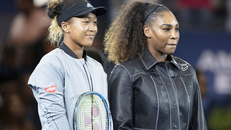Naomi Osaka and Serena Williams are the highest earning female sports stars according to Forbes. Pic: Getty