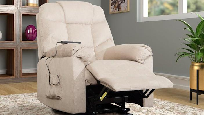 Lay back and relax in this comfy recliner—on sale now at Home Depot.