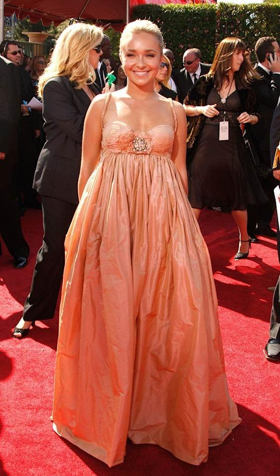 WORST: Hayden Panettiere at the 59th Annual Primetime Emmy Awards in Los Angeles, California on September 16, 2007.