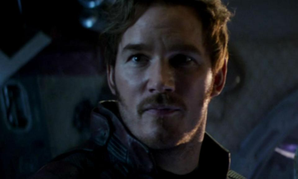 """<p><span><strong>Played by:</strong> Chris Pratt</span><br><strong>Last appearance: </strong><i><span>Guardians of the Galaxy Vol. 2</span></i><br><span><strong>What's he up to?</strong> After defeating his dad Ego, Peter no longer has the powers that his side of his DNA provided. Now presumably mortal, Star-Lord says a final farewell to his real """"daddy"""" Yondu, who sacrificed himself for Peter. A few years later we see him play the father role to <a rel=""""nofollow noopener"""" href=""""https://www.facebook.com/jgunn/posts/10154433825566157"""" target=""""_blank"""" data-ylk=""""slk:an adolescent Groot."""" class=""""link rapid-noclick-resp"""">an adolescent Groot.</a></span> </p>"""