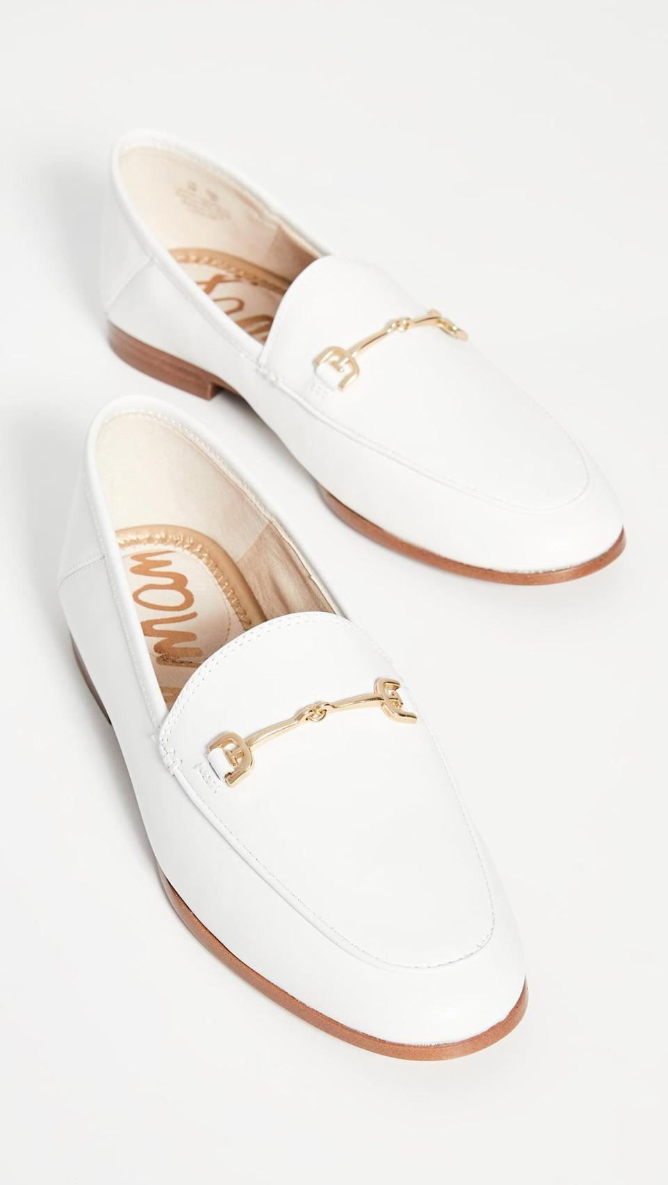 <p>The backs of these <span>Sam Edelman Loraine Loafers</span> ($130) fold down, so you can wear them like slides.</p>