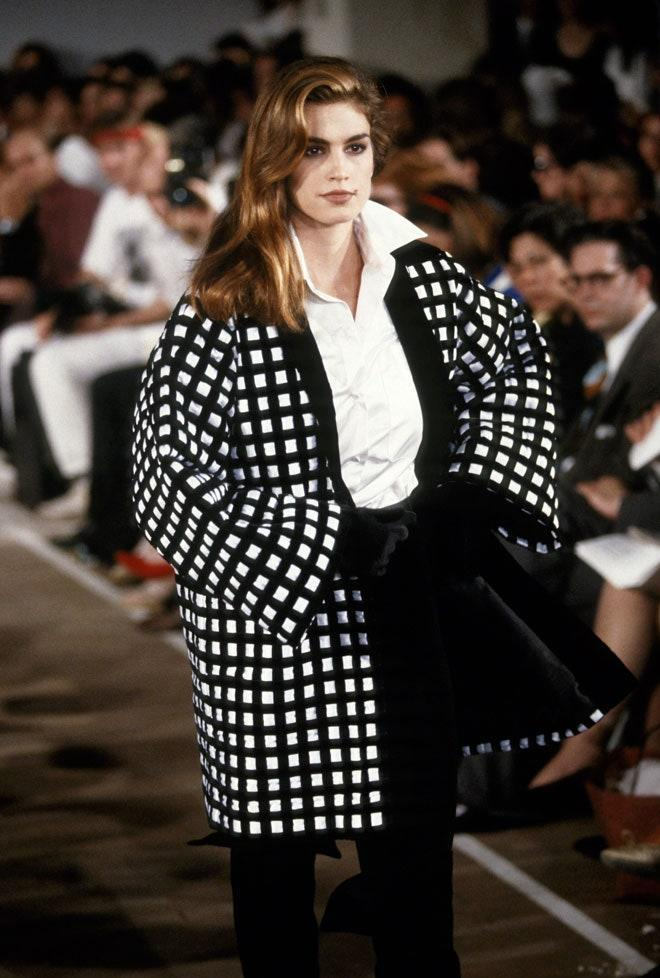 Cindy Crawford during the Michael Kors Fall/Winter 1991-1992 show