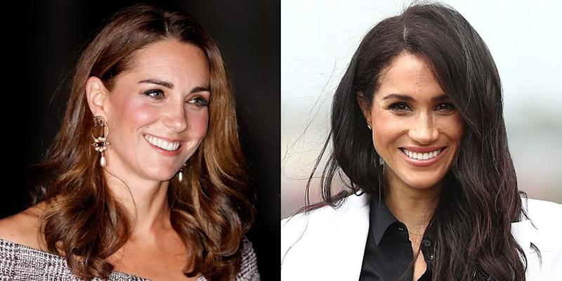 6d1100b1b8 Meghan Markle Twinned With Kate Middleton in Her Polka Dot   Other ...