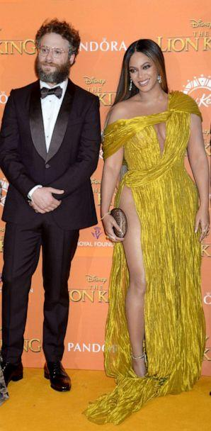 PHOTO: Seth Rogen and Beyonce attend 'The Lion King' film premiere in London, July 14, 2019. (Richard Young/REX via Shutterstock)