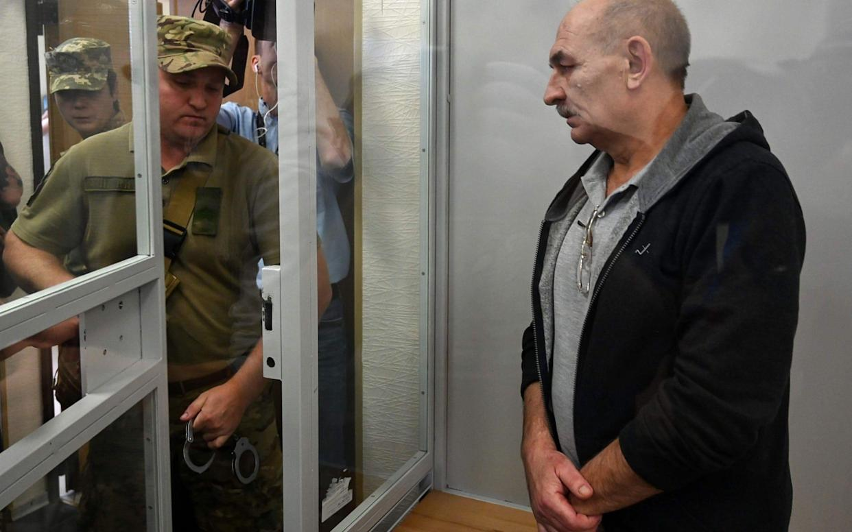 Vladimir Tsemakh, who commanded separatist anti-aircraft defences in the area from which MH17 was downed, was freed in court - AFP