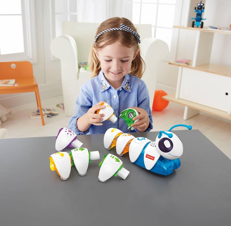 "<p>The <a href=""https://www.popsugar.com/buy/Fisher-Price-Think-amp-Learn-Code--pillar-423239?p_name=Fisher-Price%20Think%20%26amp%3B%20Learn%20Code-a-pillar&retailer=amazon.com&pid=423239&price=60&evar1=moms%3Aus&evar9=25800161&evar98=https%3A%2F%2Fwww.popsugar.com%2Fphoto-gallery%2F25800161%2Fimage%2F42713874%2FFisher-Price-Think-Learn-Code--Pillar&list1=gifts%2Choliday%2Cgift%20guide%2Cparenting%2Ctoddlers%2Clittle%20kids%2Ckid%20shopping%2Choliday%20living%2Choliday%20for%20kids%2Cgifts%20for%20toddlers%2Cbest%20of%202019&prop13=api&pdata=1"" class=""link rapid-noclick-resp"" rel=""nofollow noopener"" target=""_blank"" data-ylk=""slk:Fisher-Price Think & Learn Code-a-pillar"">Fisher-Price Think & Learn Code-a-pillar</a> ($60) teaches your tot how to code before they even hit grade school.</p>"
