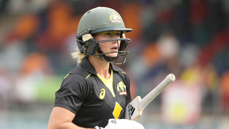 Seen here, Ellyse Perry was the player of the match in Australia's win over India.