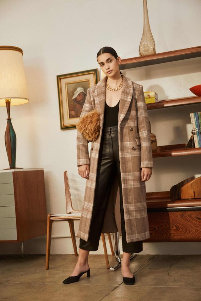 """<p>How cool is this <a href=""""https://www.popsugar.com/buy/Reformation-York-Coat-487310?p_name=Reformation%20York%20Coat&retailer=thereformation.com&pid=487310&price=328&evar1=fab%3Aus&evar9=46575897&evar98=https%3A%2F%2Fwww.popsugar.com%2Ffashion%2Fphoto-gallery%2F46575897%2Fimage%2F46576229%2FReformation-York-Coat&list1=shopping%2Cfall%20fashion%2Ccoats%2Cfall%2Cwinter%2Couterwear%2Cwinter%20fashion&prop13=api&pdata=1"""" rel=""""nofollow"""" data-shoppable-link=""""1"""" target=""""_blank"""" class=""""ga-track"""" data-ga-category=""""Related"""" data-ga-label=""""https://www.thereformation.com/products/york-coat?color=Brown+Check"""" data-ga-action=""""In-Line Links"""">Reformation York Coat</a> ($328)?</p>"""