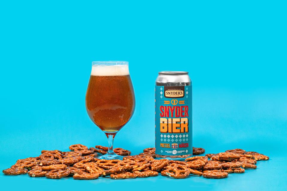 Snyder's of Hanover and Captain Lawrence Brewing Co. created two limited edition SnyderBiers – Pretzel Märzen and the Pretzel Frücht gose – for Oktoberfest 2021.