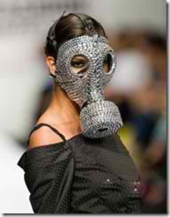"""<div class=""""caption-credit""""> Photo by: dmoiselle.com</div>The Bejeweled Gas Mask Look"""