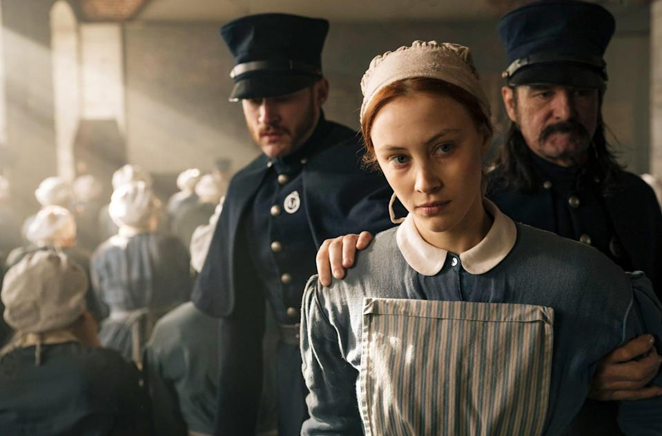 """<p>Netflix's <strong>Alias Grace</strong> is based on novelist Margaret Atwood's fictionalization of <a href=""""https://www.popsugar.com/entertainment/Alias-Grace-True-Story-44219013"""" class=""""link rapid-noclick-resp"""" rel=""""nofollow noopener"""" target=""""_blank"""" data-ylk=""""slk:a true story"""">a true story</a>. It follows the 1834 murders of Thomas Kinnear and his housekeeper Nancy Montgomery. Two servants, Grace Marks and James McDermott, were convicted of the killings.</p> <p><a href=""""https://www.netflix.com/title/80119411"""" class=""""link rapid-noclick-resp"""" rel=""""nofollow noopener"""" target=""""_blank"""" data-ylk=""""slk:Watch Alias Grace on Netflix now."""">Watch <strong>Alias Grace</strong> on Netflix now.</a></p>"""