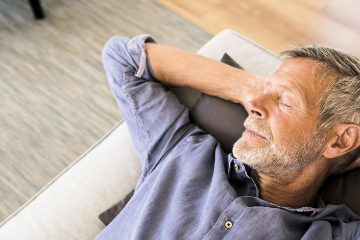 Regular afternoon naps may help people stay sharp in old age. (Posed by a model, Getty Images)