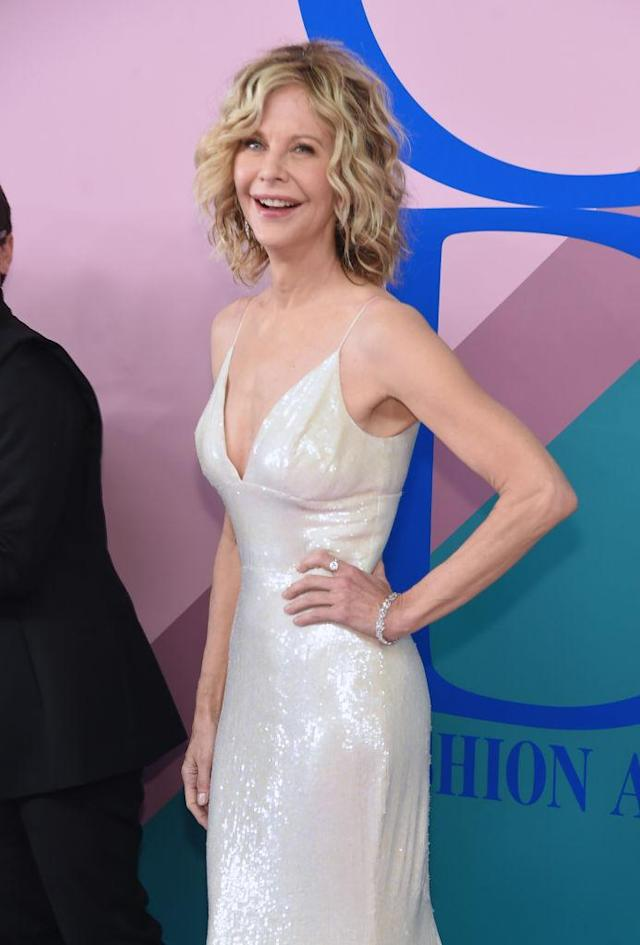 <p>Meg Ryan's wavy bob will never stop being perfect. (Photo by Jamie McCarthy/WireImage) </p>
