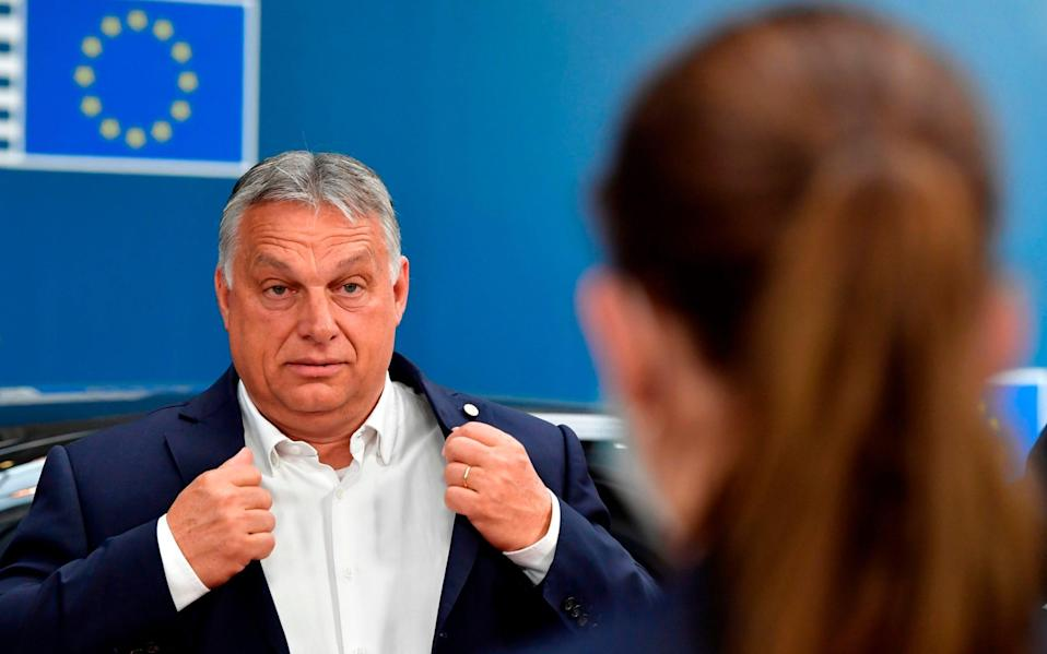 "Viktor Orbàn is accused of ""Brussels-bashing"" by his political allies in the European People's Party. - AFP"