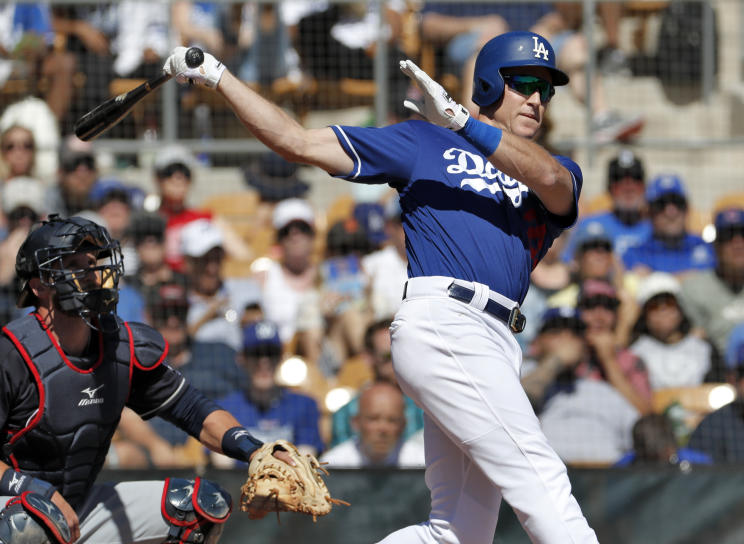 Dodgers' infielder Chase Utley recently reunited with a cancer survivor he met 12 years ago who is now his Dodgers teammate. (AP)