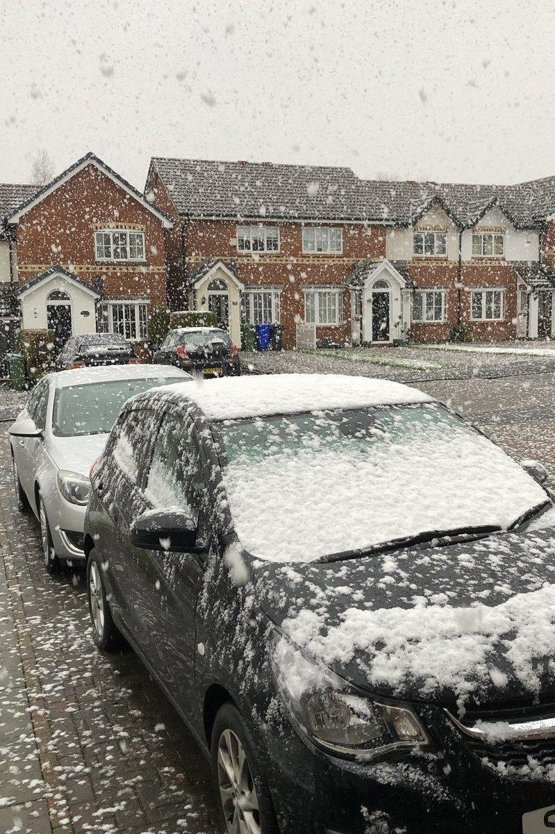 Flurries in Haughton Green, Greater Manchester (Twitter/Sarah Elise)