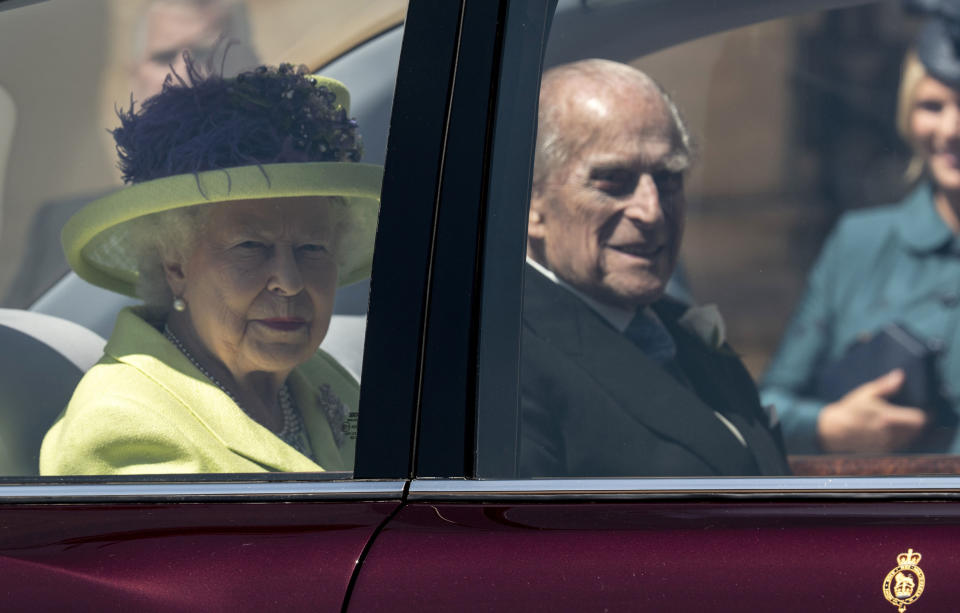 Her Majesty Queen Elizabeth II and Prince Philip The Duke of Edinburgh saddened by harry meghan exit