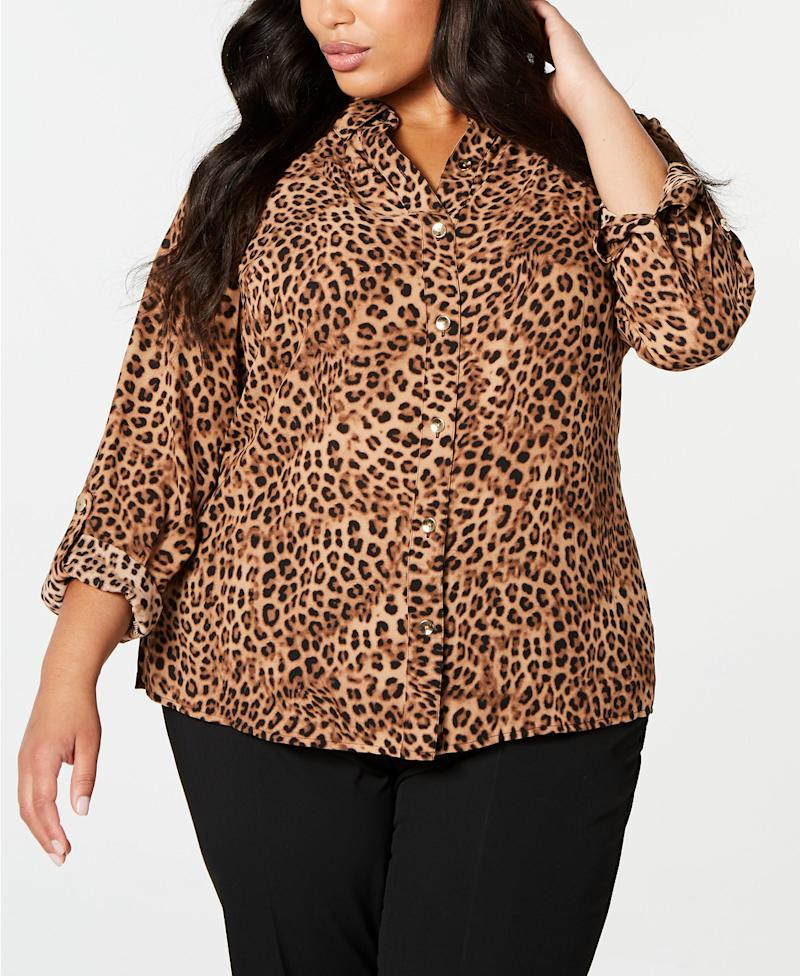 Charter Club Animal Print Shirt. (Photo: Macy's)