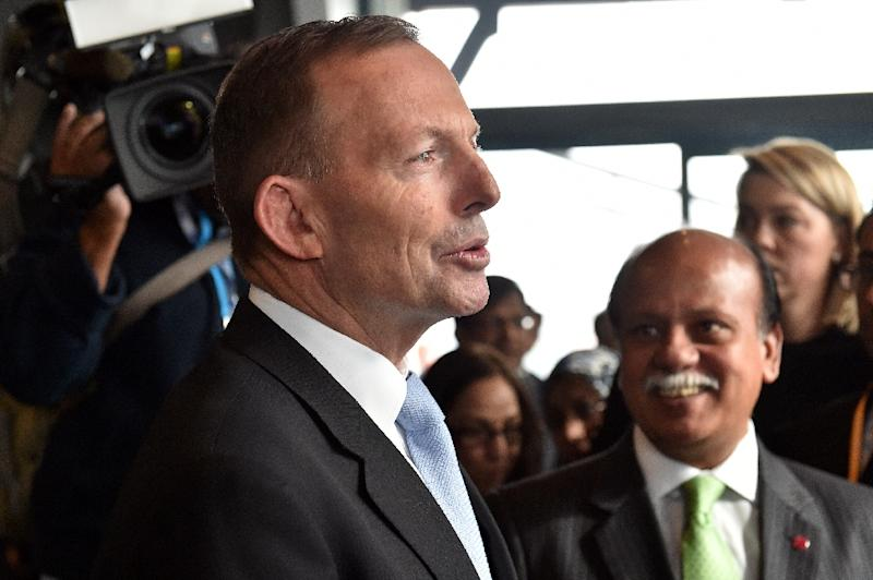"Australian Prime Minister Tony Abbott said his government will stop the people-smuggling trade ""by hook or by crook"" (AFP Photo/Saeed Khan)"