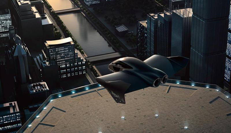 Rendering of Porsche and Boeing concept vehicle.