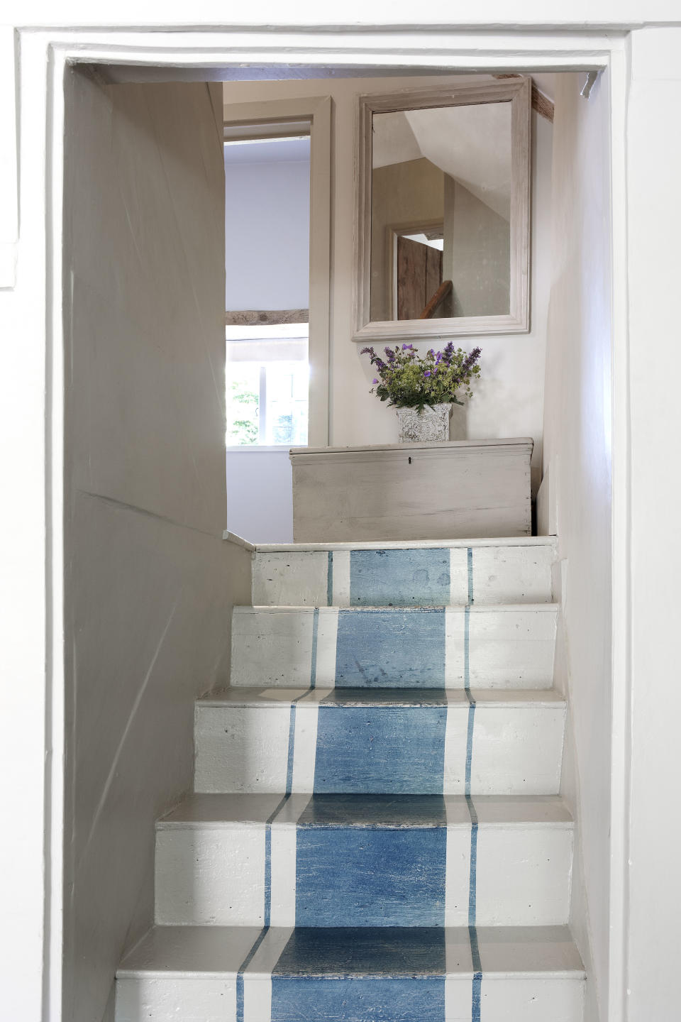 staircase ideas: painted stair runner