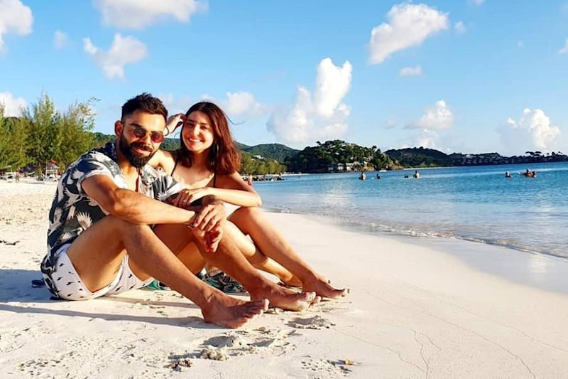 Virat Kohli Hits Beach With Anushka Sharma Ahead of First Test Against West Indies