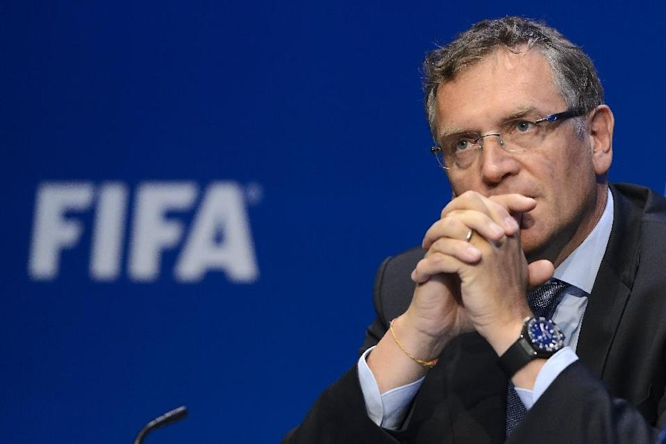 Former FIFA secretary general Jerome Valcke was banned from football for 10 years (AFP Photo/FABRICE COFFRINI)