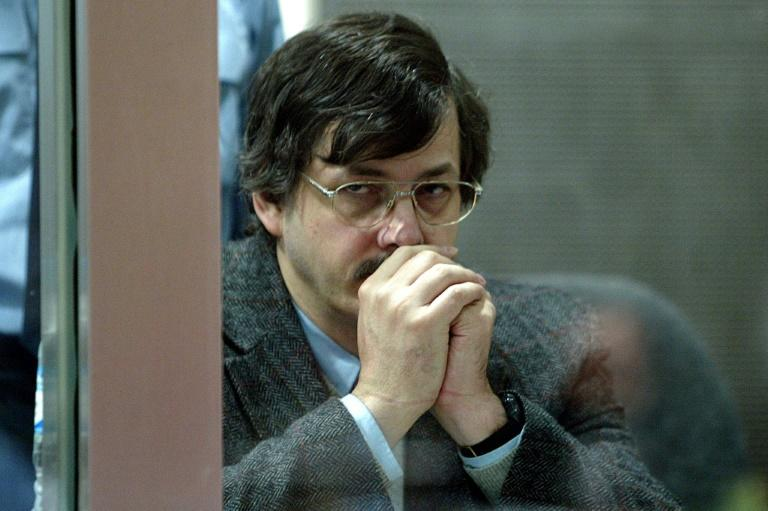 Belgian paedophile murderer Marc Dutroux, pictured in 2004, was sentenced to life in prison that same year for kidnapping, molesting and imprisoning six girls and murdering four of them, in a case that  shocked the world