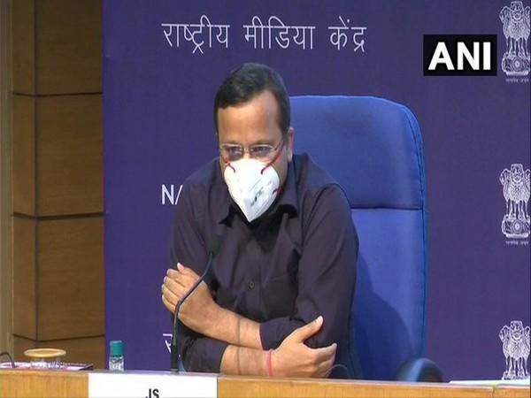 Lav Agarwal, Joint Secretary, Union Health Ministry briefing the media in Delhi on Saturday. [Photo/ANI]